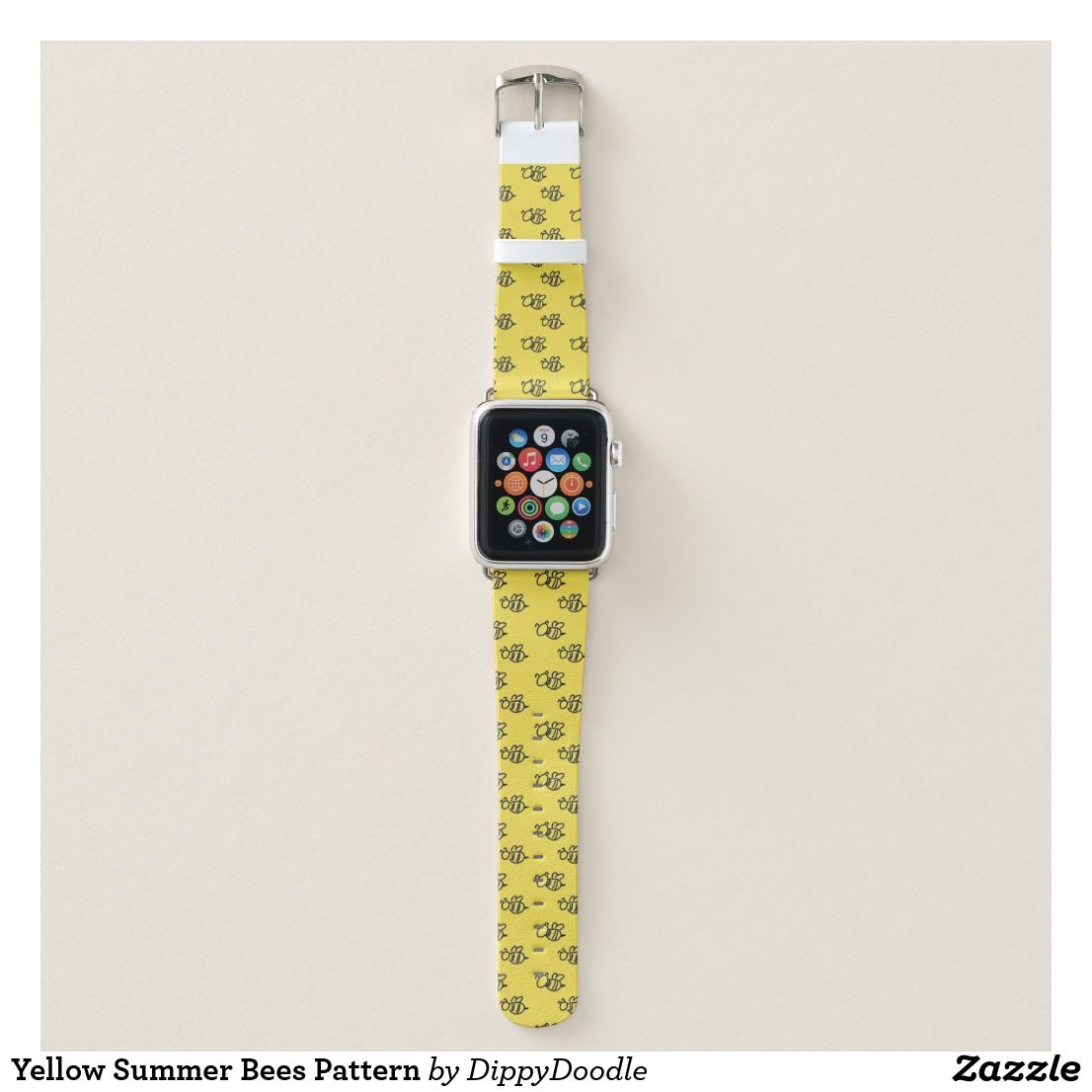 Yellow Summer Bees Pattern Apple Watch Band Zazzle Com Apple