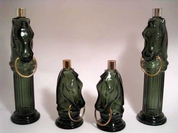 vintage AVON horse bottles