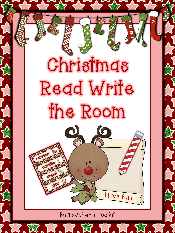 Freebie} Christmas Vocabulary Cards Read Write The Room Activity ...