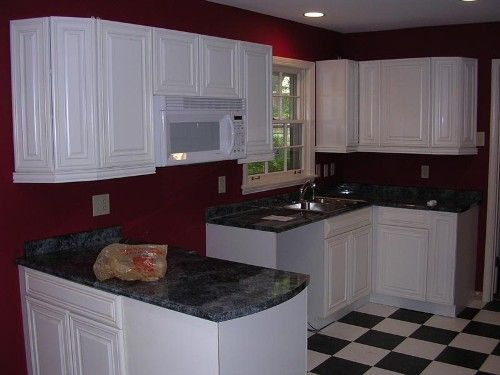 Kitchen Red Walls With Oak Cabinets Cabinet Best Wall Color Kitchens
