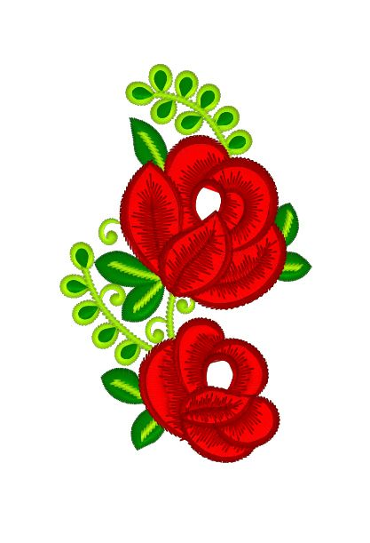 Free Machine Embroidery Design Bouquet Of Red Flowers Machine