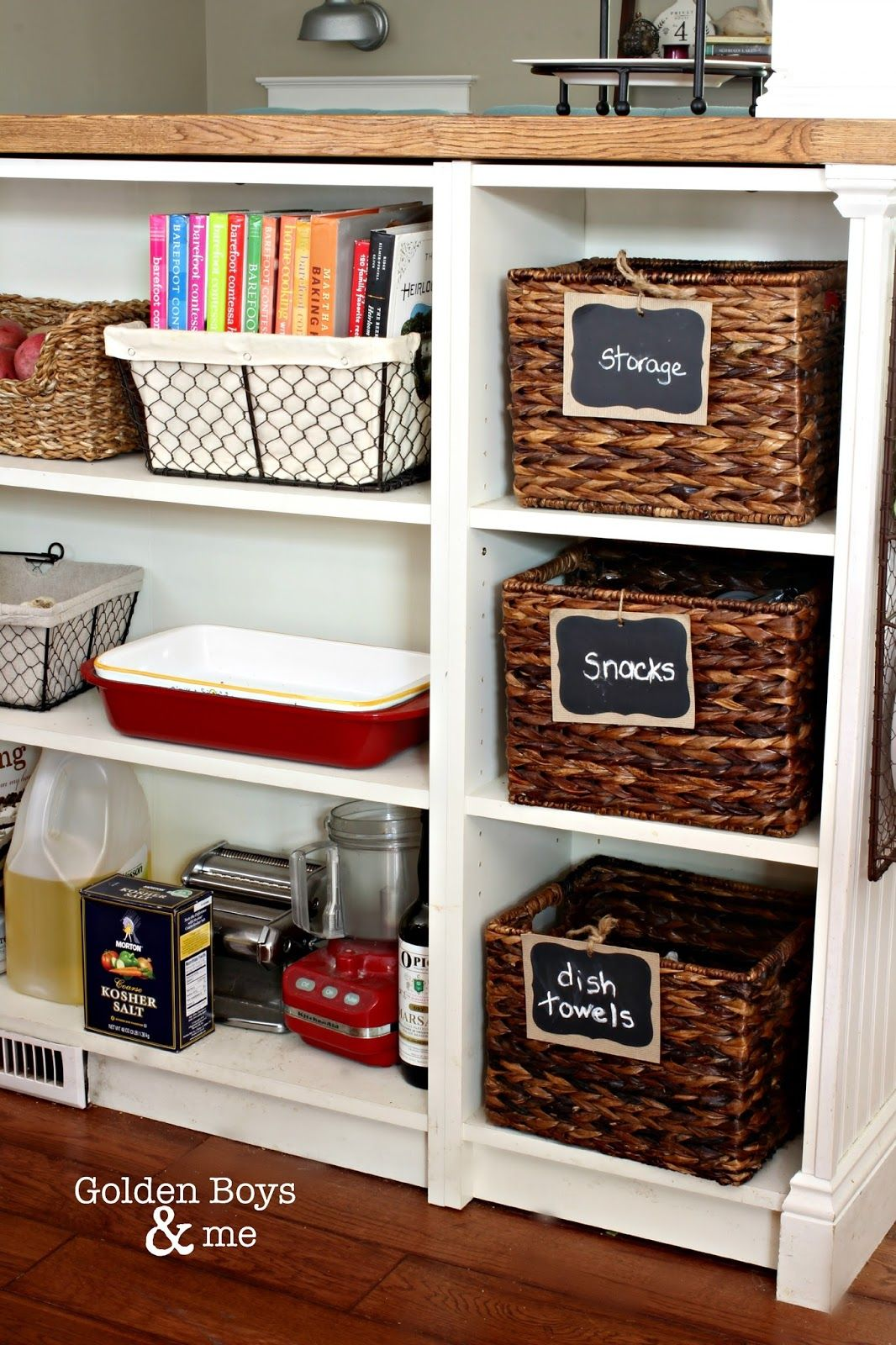 Golden Boys and Me | Cookbook storage, Wire basket and Storage