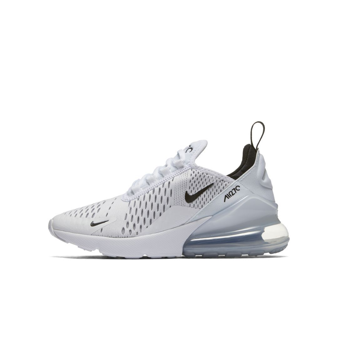 newest be3ef c9d68 Nike Air Max 270 Big Kids  Shoe Size 4.5Y (White)