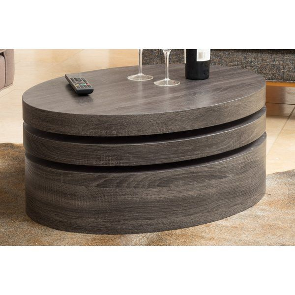The Small Oval Mod Rotatable Coffee Table Offers A Clear Late 60u0027s Vibe To  Any Room