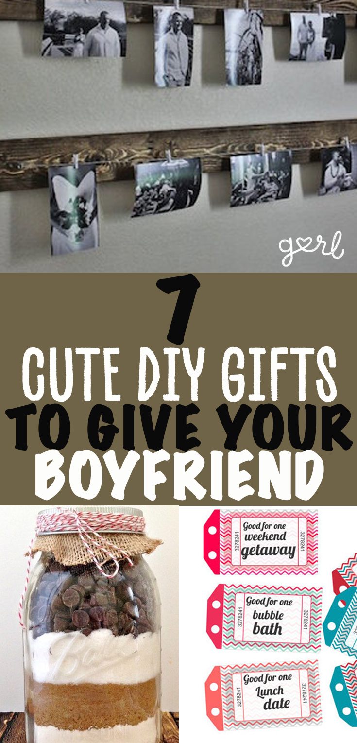 7 Easy Diy Gifts Your Boyfriend Will Actually Use Cute
