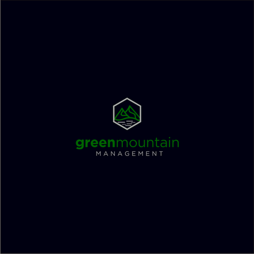 Clean Crisp Colorful Design For Green Mountain Management Logo