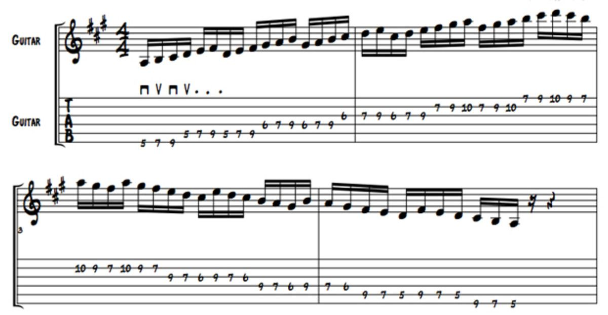 Diatonic Scale Workout Increase Picking Strength And Produce Great