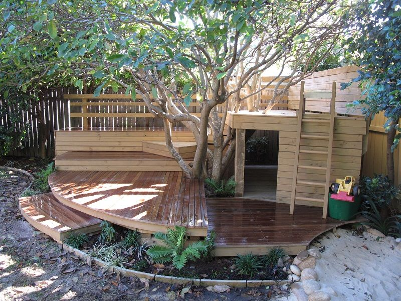 Childrens adventure play ground balgowlah sydney timber for Child friendly garden designs