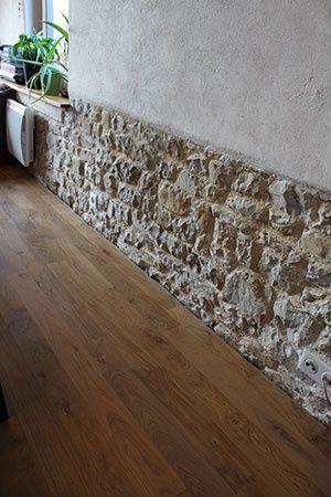 parquet ch ne massif huil mur en pierre enduit chaux et. Black Bedroom Furniture Sets. Home Design Ideas