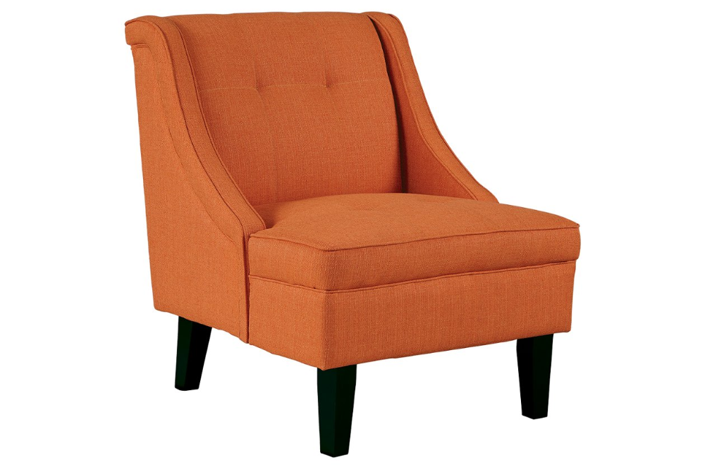 Clarinda Accent Chair Ashley Furniture Homestore In 2020 Orange Accent Chair Chair Accent Chairs
