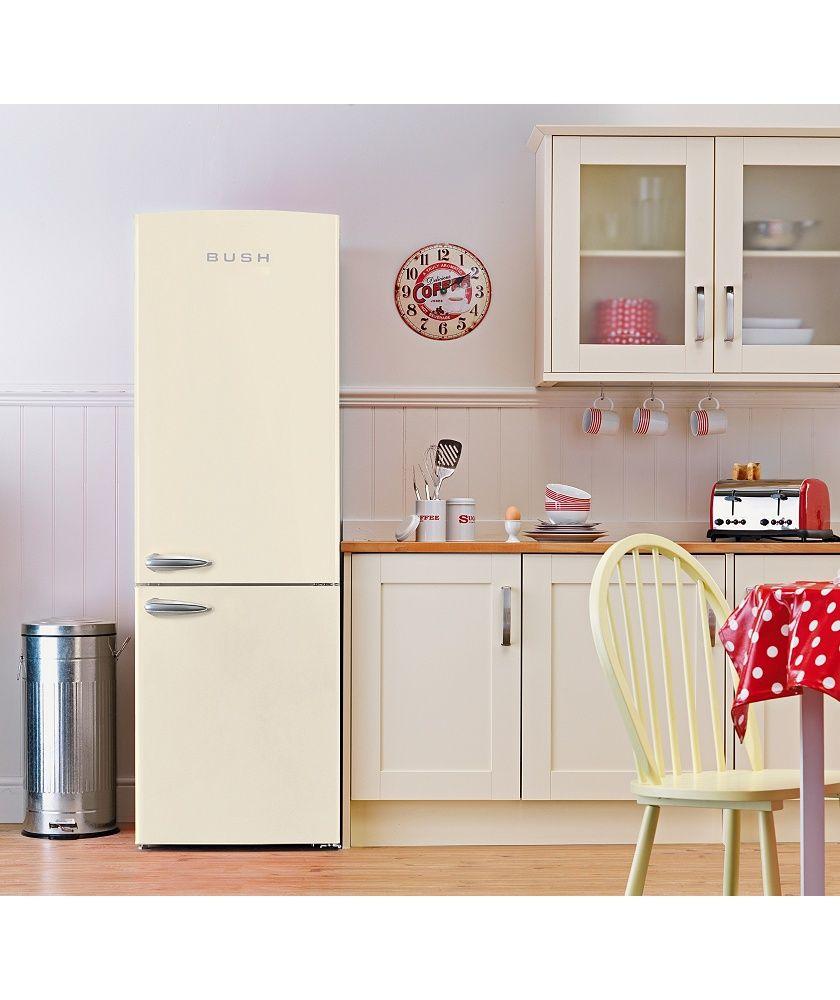 Argos Kitchen Furniture Buy Bush Bsff60 Retro Tall Fridge Freezer Cream At Argoscouk