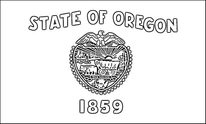 Oregon Flag Colouring Pages Flag Coloring Pages Oregon State