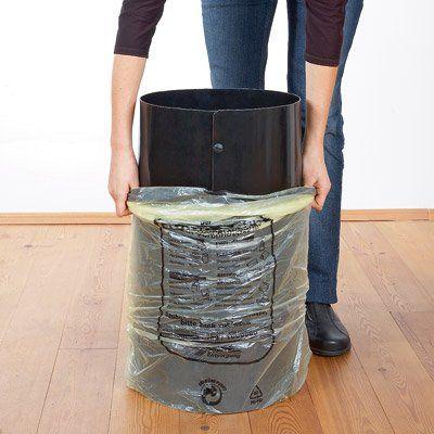 SackTonne Innovativer Stander Fur Gelbe Sacke Mit Metalldeckel Mullsackhalter Abfallbehalter Wertstoffsammler