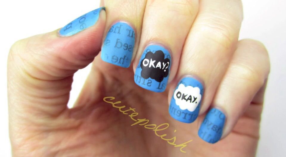 The Fault In Our Stars nail design! Watch how to recreate them in Cutepolish's video!!!
