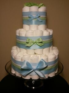 Blue And Green Diaper Cakes Blue And Green Diaper Cake Diaper