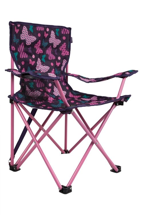 Mountain Warehouse Butterfly Print Purple Camping Chair