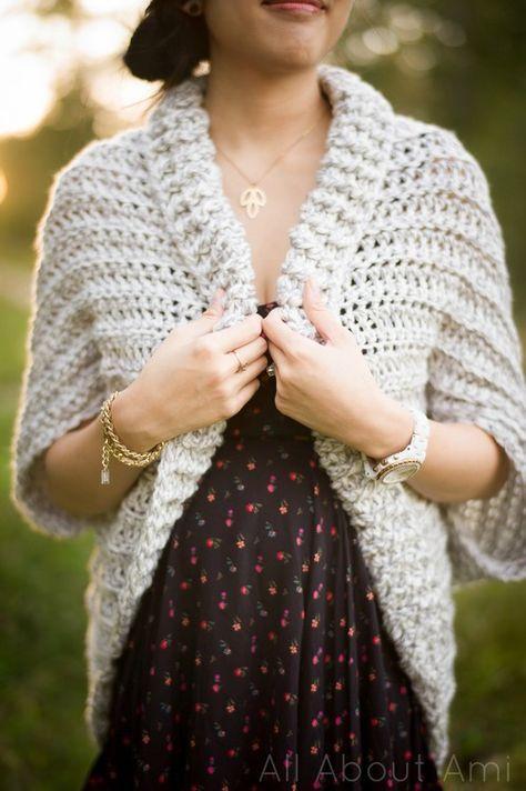 Easy Chunky Crochet Sweater free crochet pattern