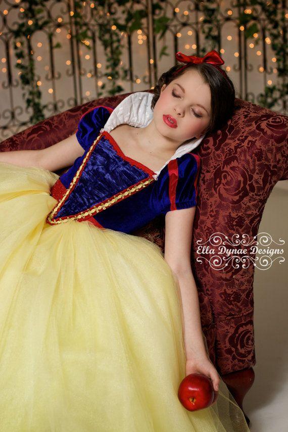 Snow White Costume Princess Gown Tutu Dress Fotos