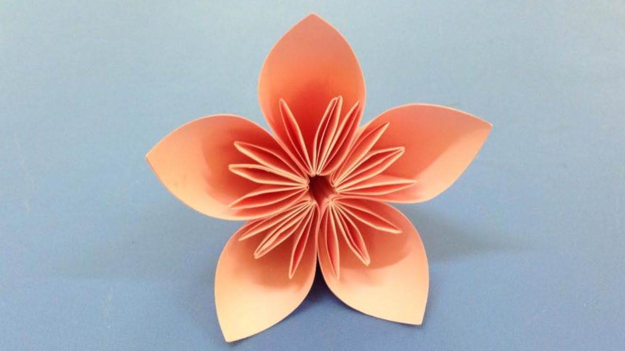 How To Make A Kusudama Paper Flower Easy Origami Kusudama For Beginner Paper Origami Flowers Easy Origami Flower Easy Paper Flowers