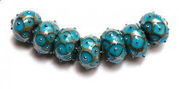 Grace Lampwork rondelle beads