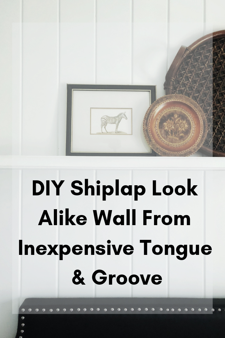 Diy Accent Wall Shelf In 2020 Diy Shiplap Tongue And Groove Plywood Shiplap