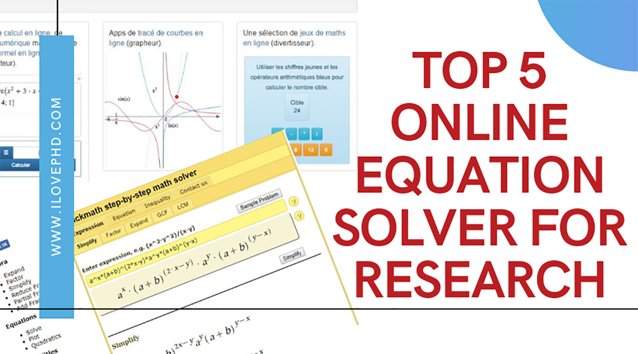Top 5 Online Equation Solver For Research Ilovephd Solving Quadratic Equations Algebra Solver Math Software