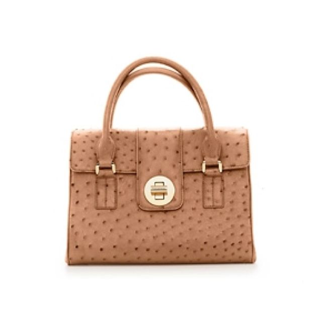 Timeless tan leather Tiffany bag