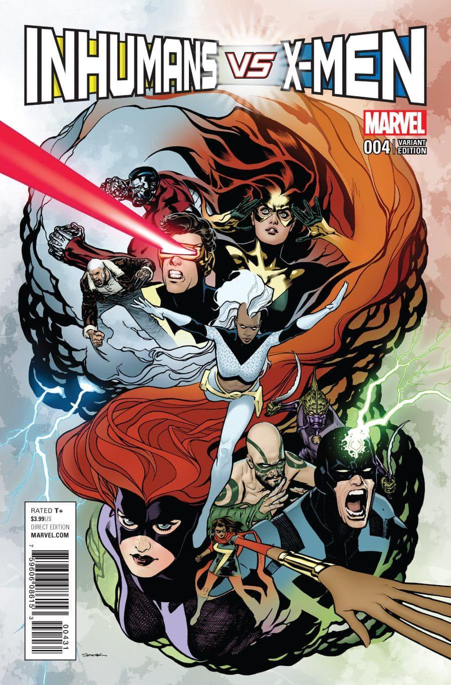 Inhumans Vs X Men 4 Sook Variant Marvel Comic Books Comics Comic Book Covers