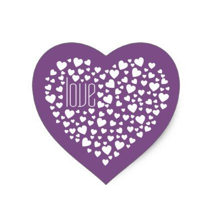 Hearts full of hearts love white heart sticker love gifts cyo personalize diy love pinterest