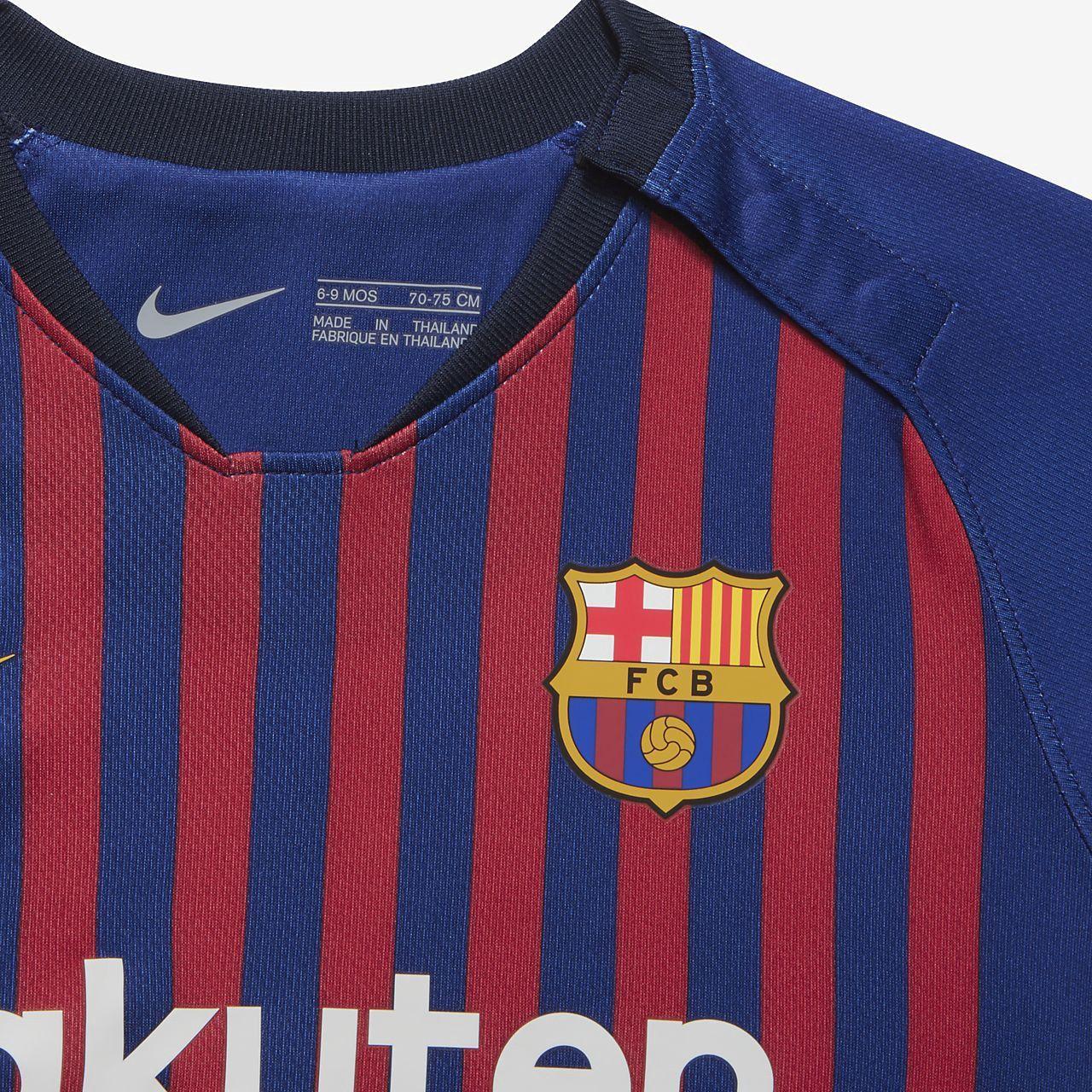 6c7f11ad07d Nike 2018 19 Fc Barcelona Stadium Home Infant Soccer Kit - 18-24M Gold