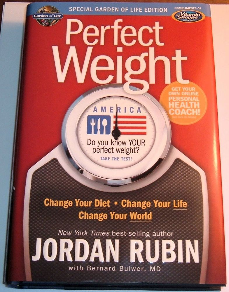 PERFECT WEIGHT By JORDAN RUBIN GARDEN OF LIFE EDITION