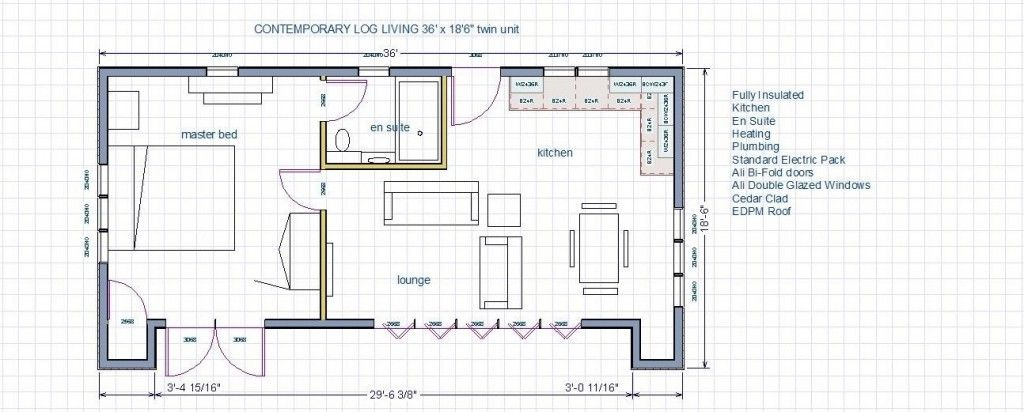 2 Bedroom Self Contained Annex Floor Plans Uk Google Search