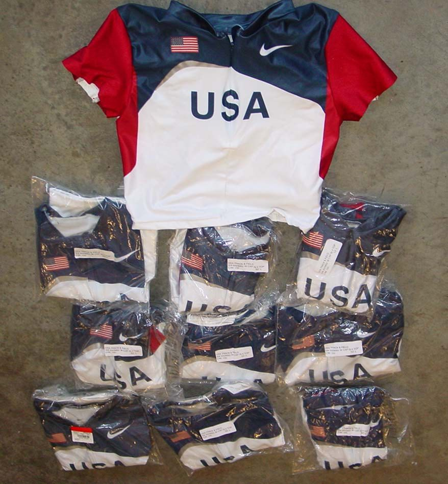 Vintage NIKE 1990s USA olympic track and field uniform womens tops LOT of 10 by vintagerhino247 on Etsy