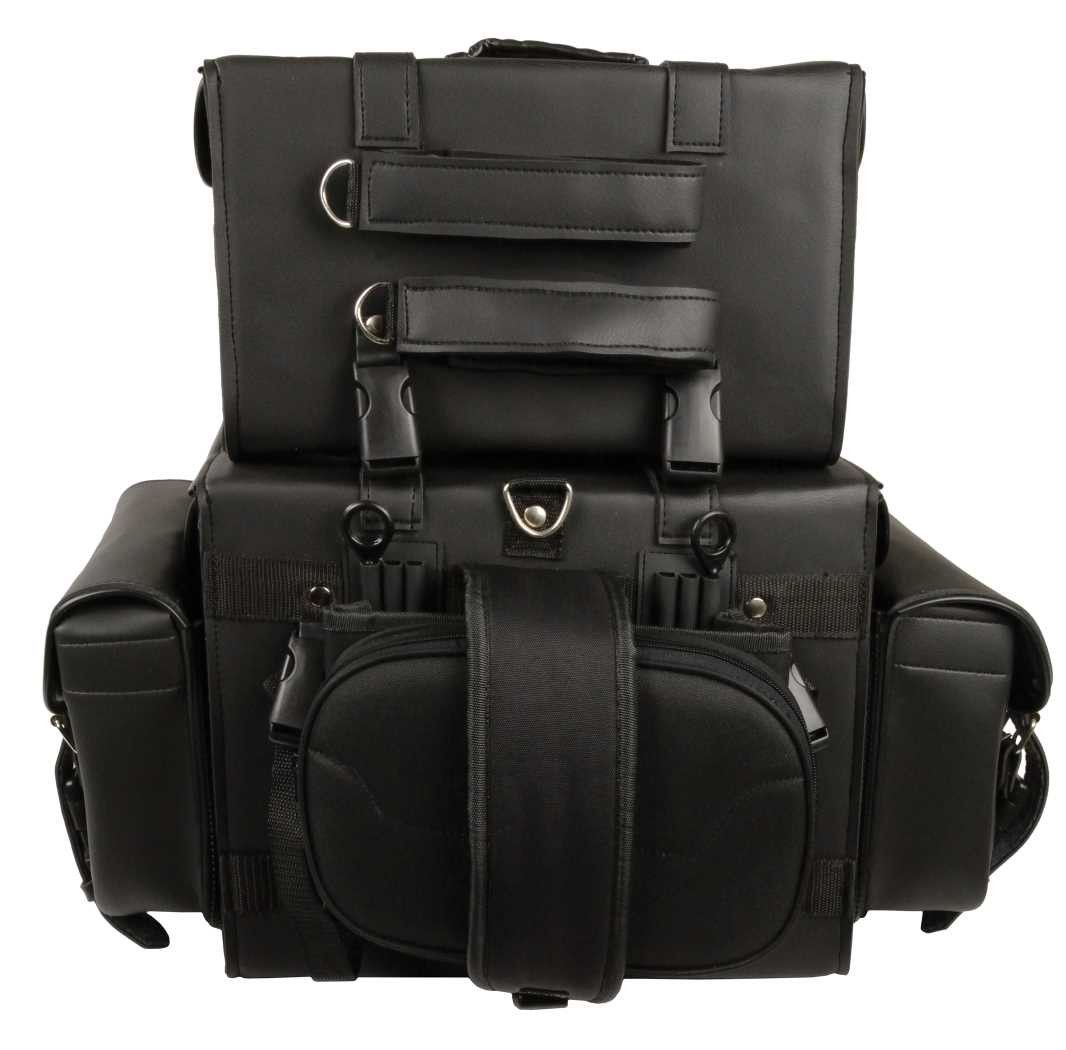 Black sissy t bar 4 piece travel bag bar luggage #gunsammo