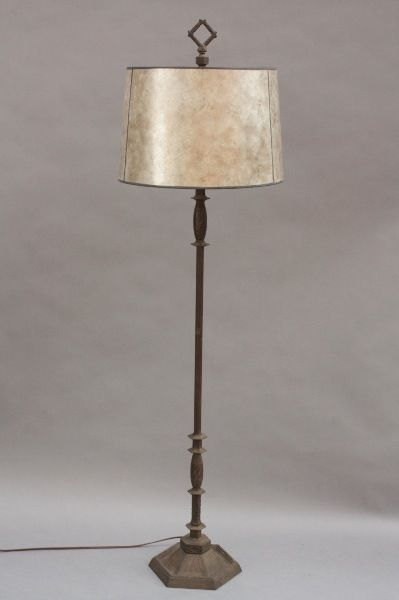1920s Spanish Revival Floor Lamp w Mica Shade Antique Light Fits ...