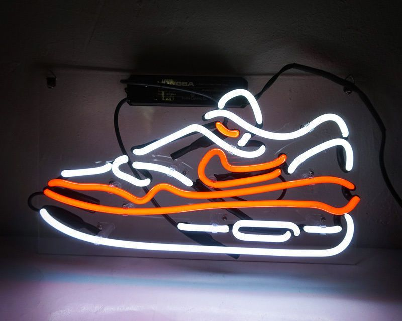 Air Max, Nike Air Max, Nike Air, Nike Air Max Shoes, Custom Neon, Neon Art, Noen Shoes, Neon Shoe, Shoe Repair, Shoe Store, Neon Red Shoe