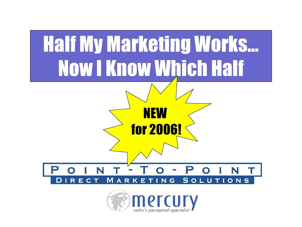 radio-i-know-half-my-marketing-works-i-just-dont-know-which-half by Mark Ramsey via Slideshare
