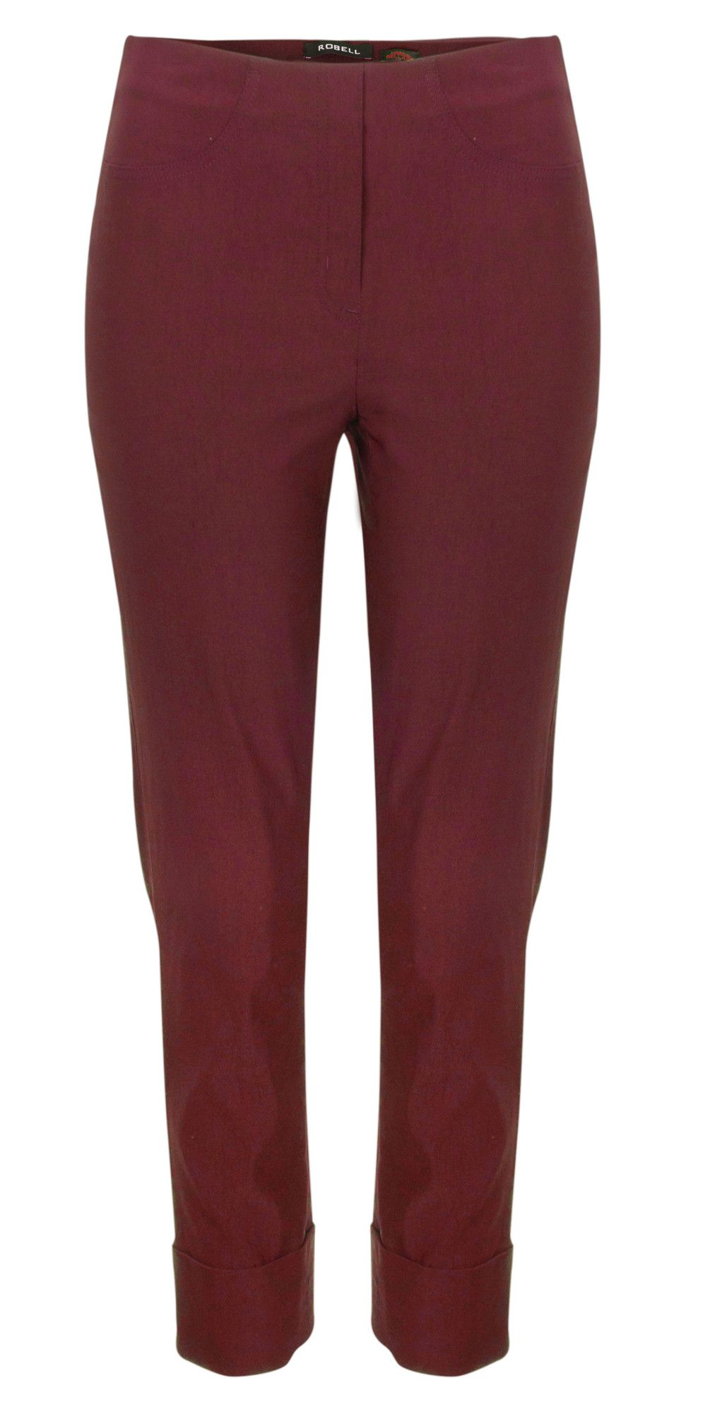 7365543e226 ROBELL TROUSERS BELLA 7 8 CROPPED TROUSER - WINE £50.00