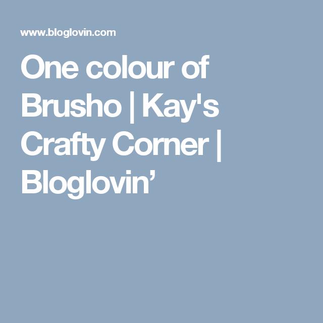 One colour of Brusho   Kay's Crafty Corner   Bloglovin'