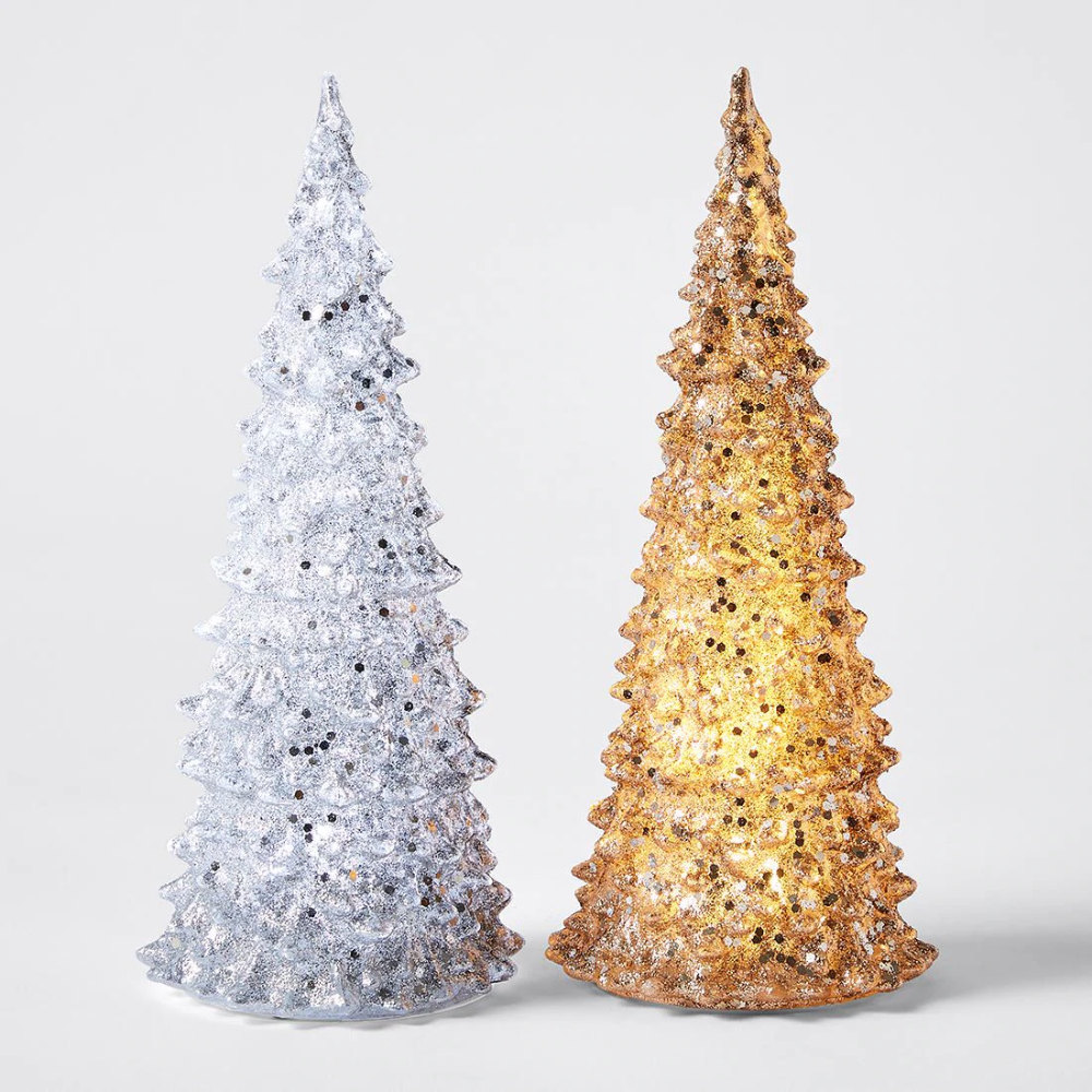 Battery Operated Glitter Christmas Tree Assorted