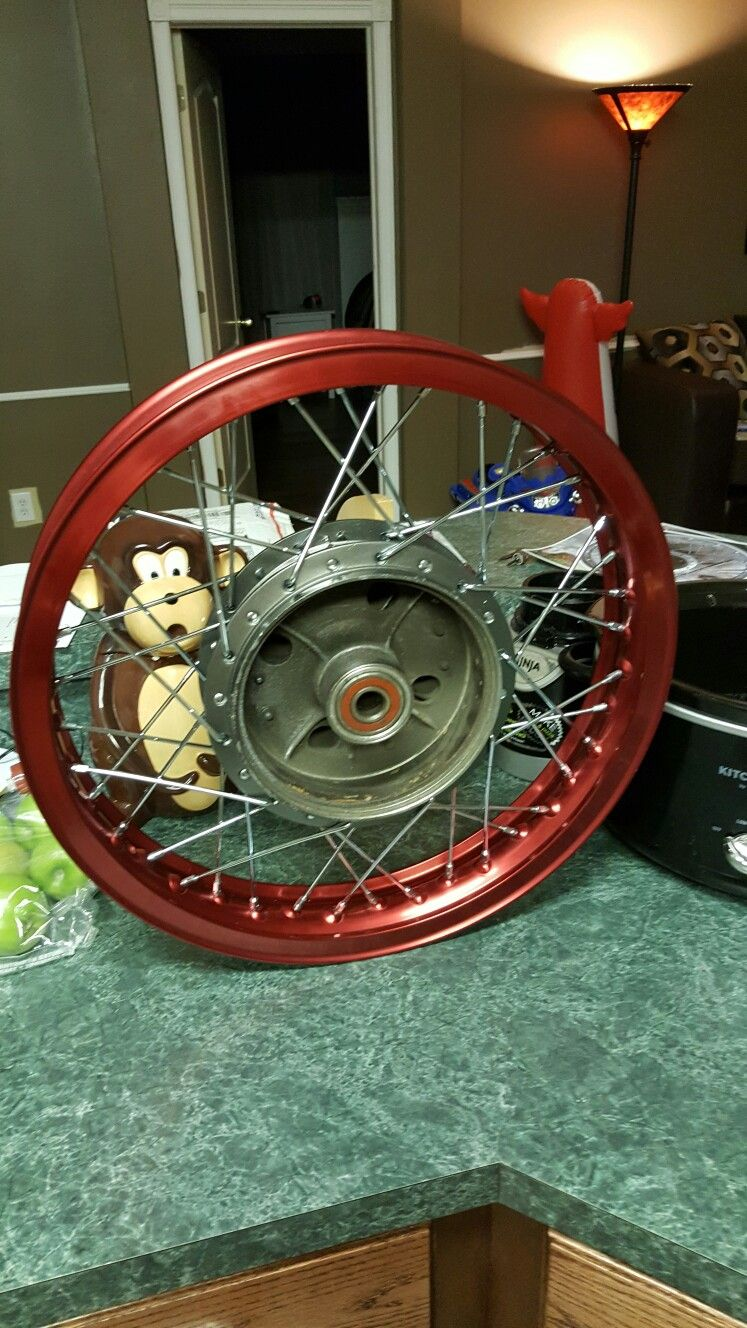 Cb550 hubs laced to Excel rims | Vintage Speed Concepts
