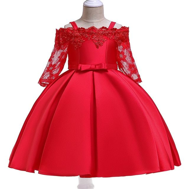 Baby Girls Party Dress 2018 Elegant Girl Evening Dress For Wedding Birthday Kids Dresses For 2 to 10 yeas Girls Clothes | nabitoo.com