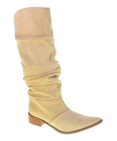 Another great find on #zulily! Split Suede Stone Winner Slouch Boot #zulilyfinds