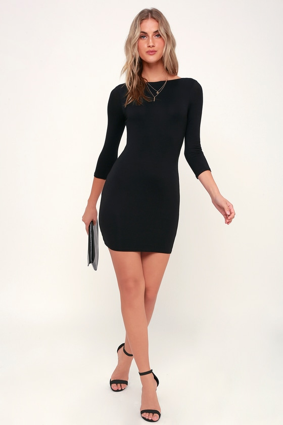 d37f522085d2 Alone with You Black Backless Bodycon Dress | Vestidos | Pinterest ...