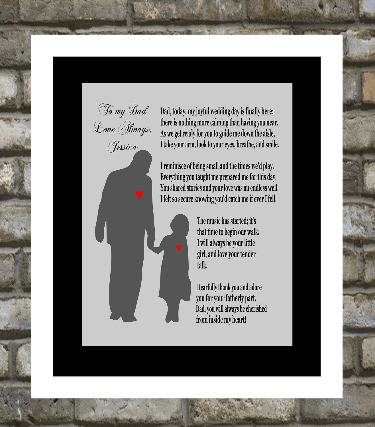 Personalized Wedding Gift Father Of The Bride Thank You