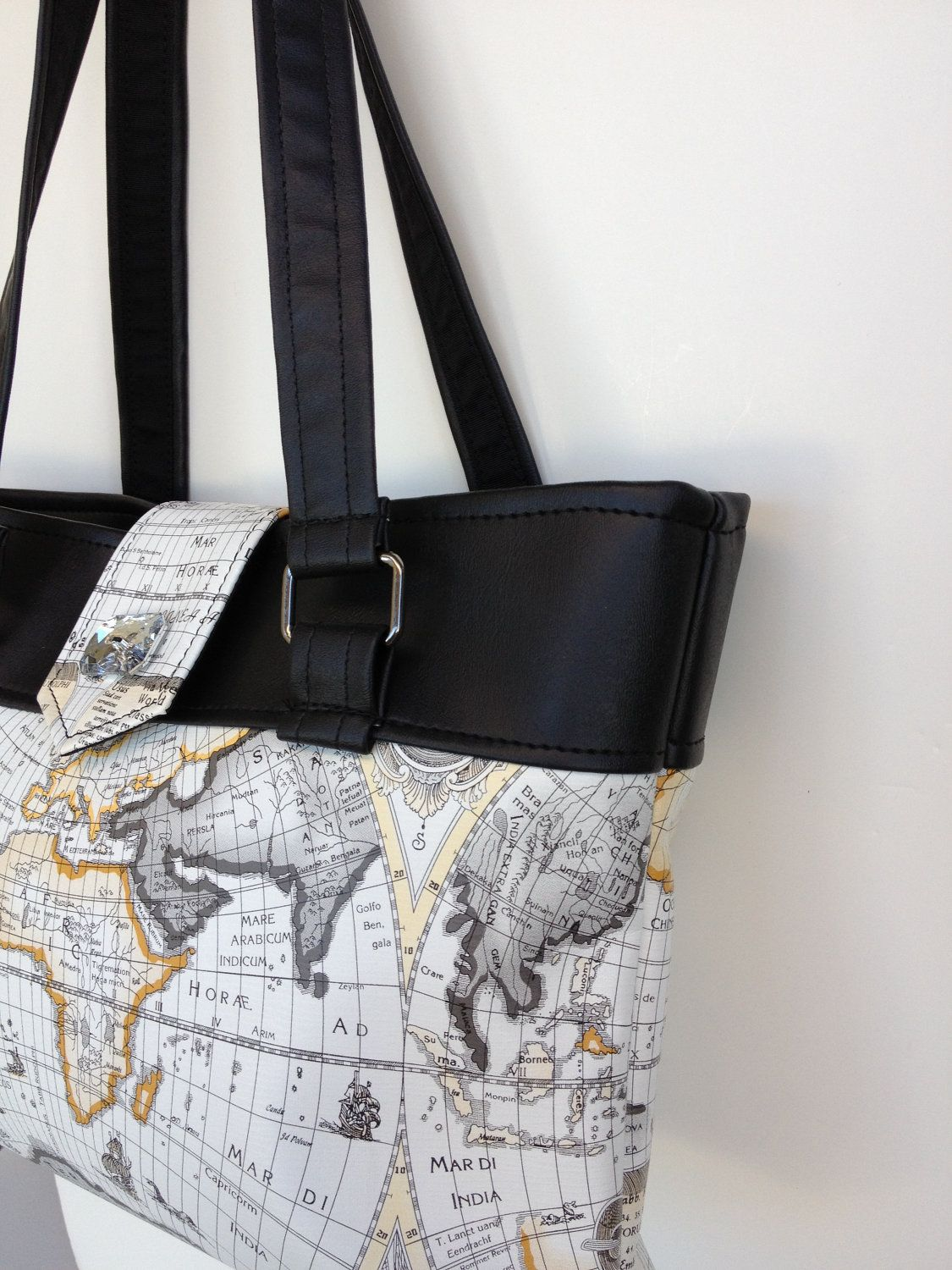 b4f324f120b Need this to travel with World Map Purse Tote Bag Travel Bag World Map Purse  Tote
