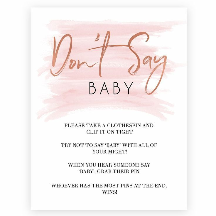Dont Say Baby printable baby shower game 100s of beautiful baby shower games available Simple download and print at home