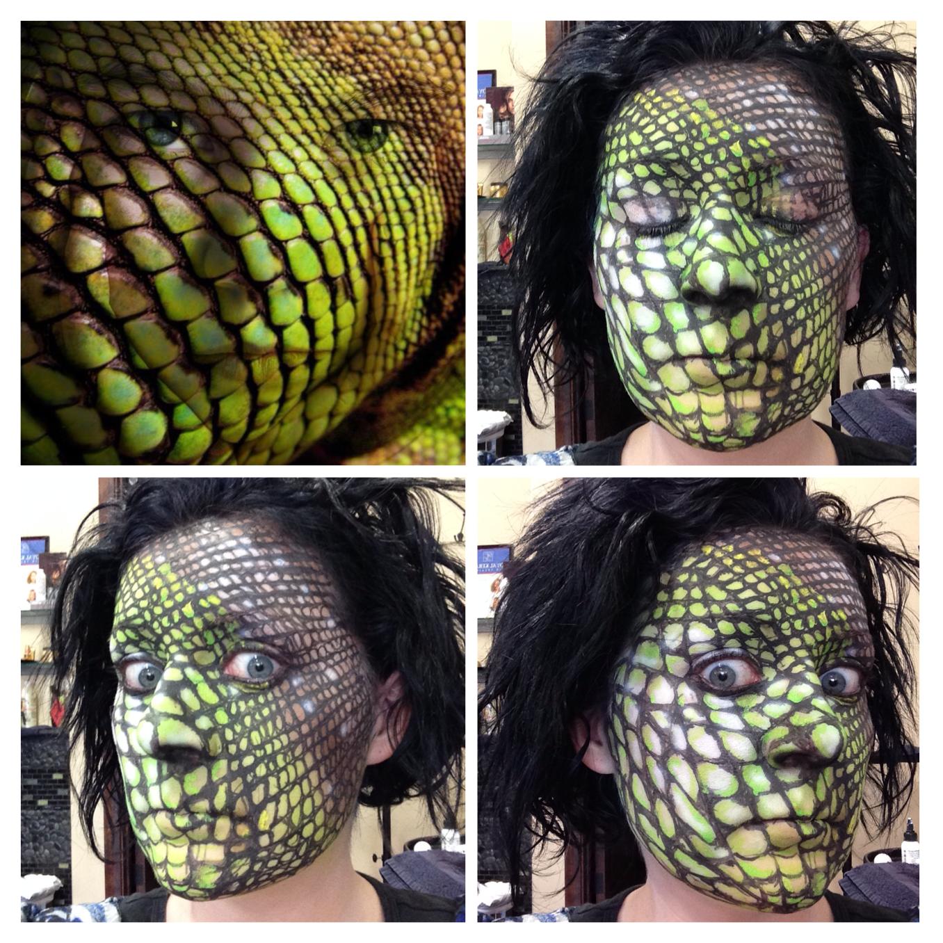 Lizard skin makeup | Fantasy & Halloween Airbrush Makeup ...