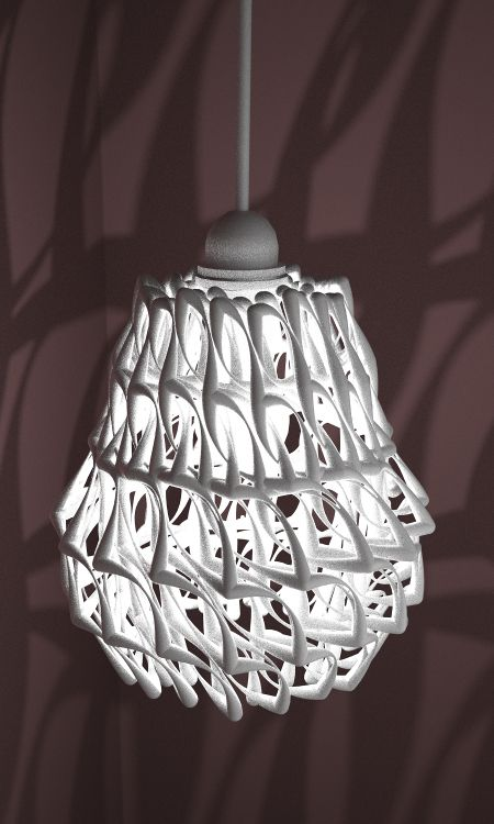 Lampshade 3d Print By Studioluminaire Com Join The 3d Printing Conversation 3d 3d Printing Art 3d Printing Diy 3dprinting Design