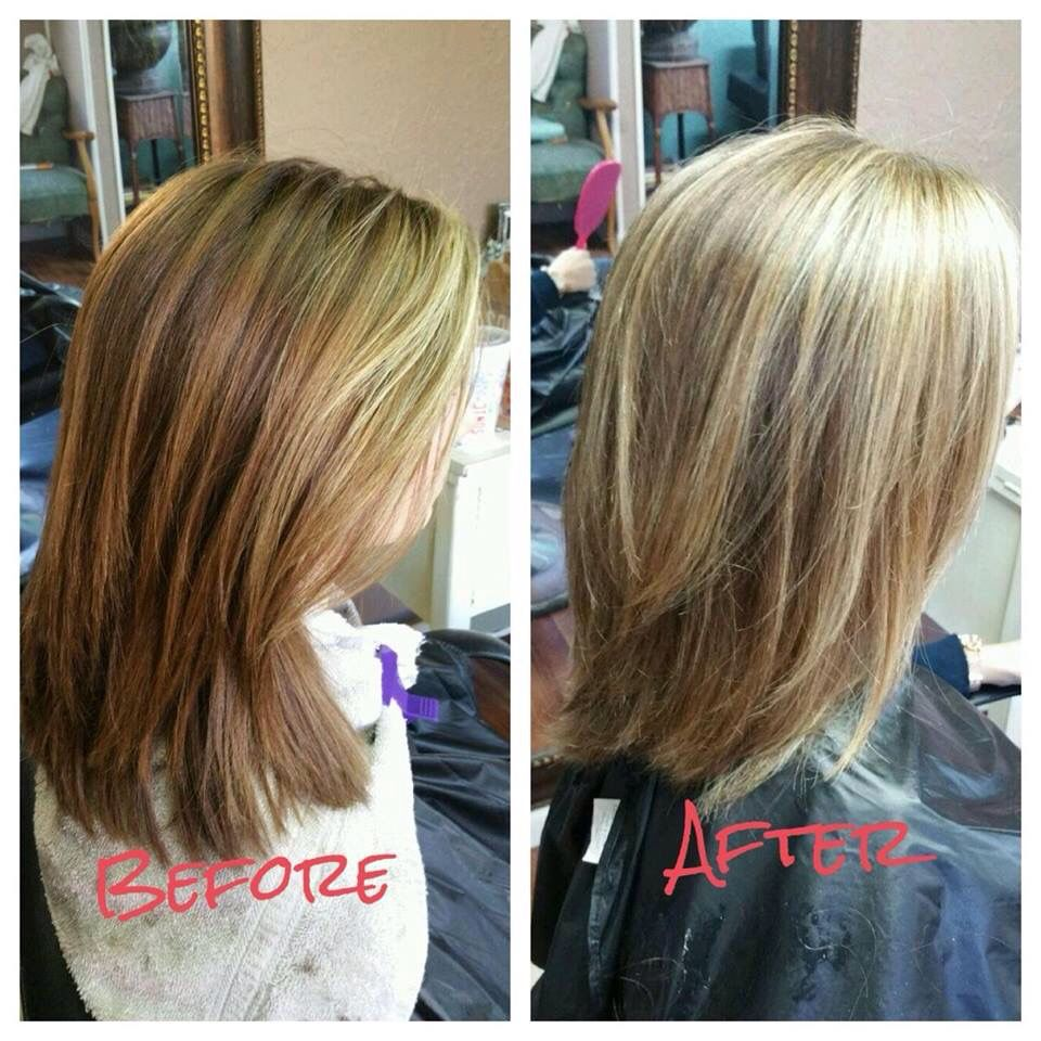 Brown to blonde color!